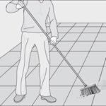 تنظيف الارضيات من الاتربة